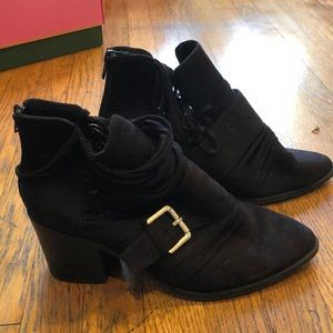 Black Frayed Booties ✨
